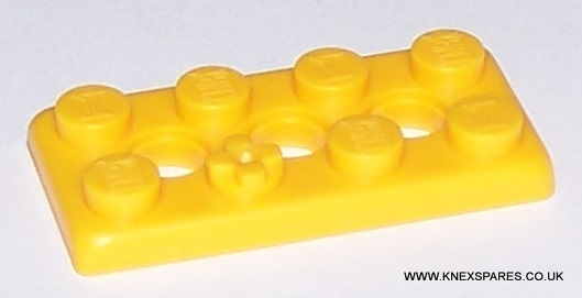 K'NEX Brick 2 x 4 flat Yellow
