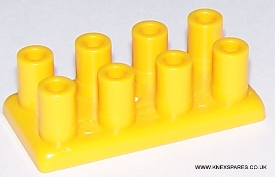 K'NEX Brick 2 x 4 Long studs yellow