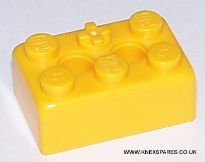 K'NEX Brick 2 x 3 Yellow