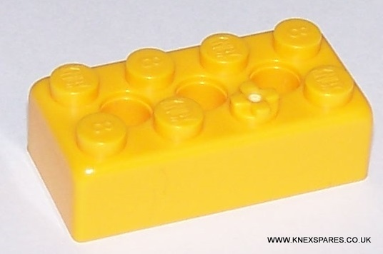 K'NEX Brick 2 x 4 Yellow
