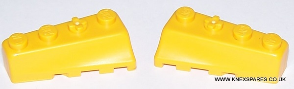 K'NEX Brick wedges left and right yellow