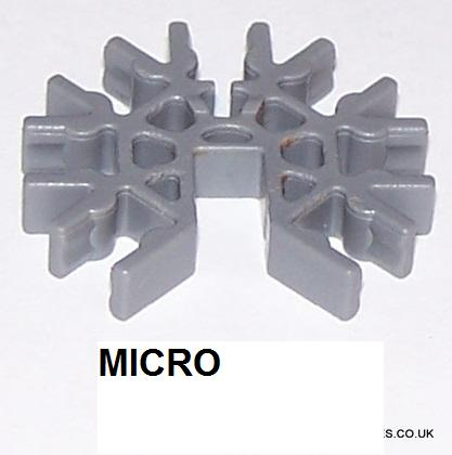 MICRO K'NEX Connector 7-way 3D Grey