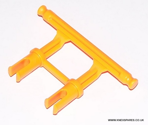 MICRO K'NEX Adapter 2-leg Orange