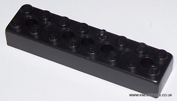 K'NEX Brick 2x8 Black - Click Image to Close