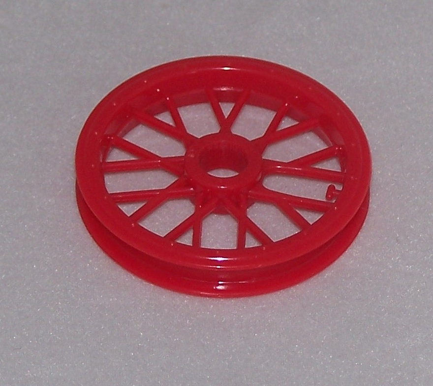 MICRO K'NEX Coaster Pulley Red