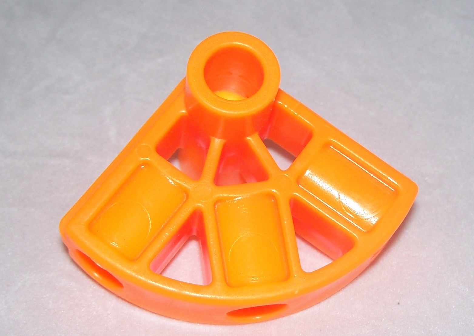 Kid K'NEX connector pivot 3 way Orange