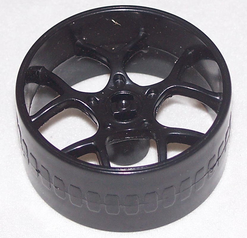K'NEX Racing Wheel Multi spoke 37mm BLACK