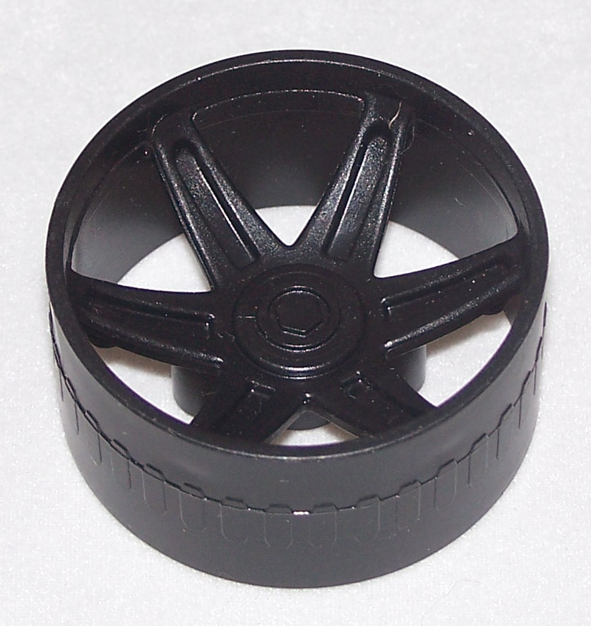 K'NEX Racing Wheel 37mm BLACK