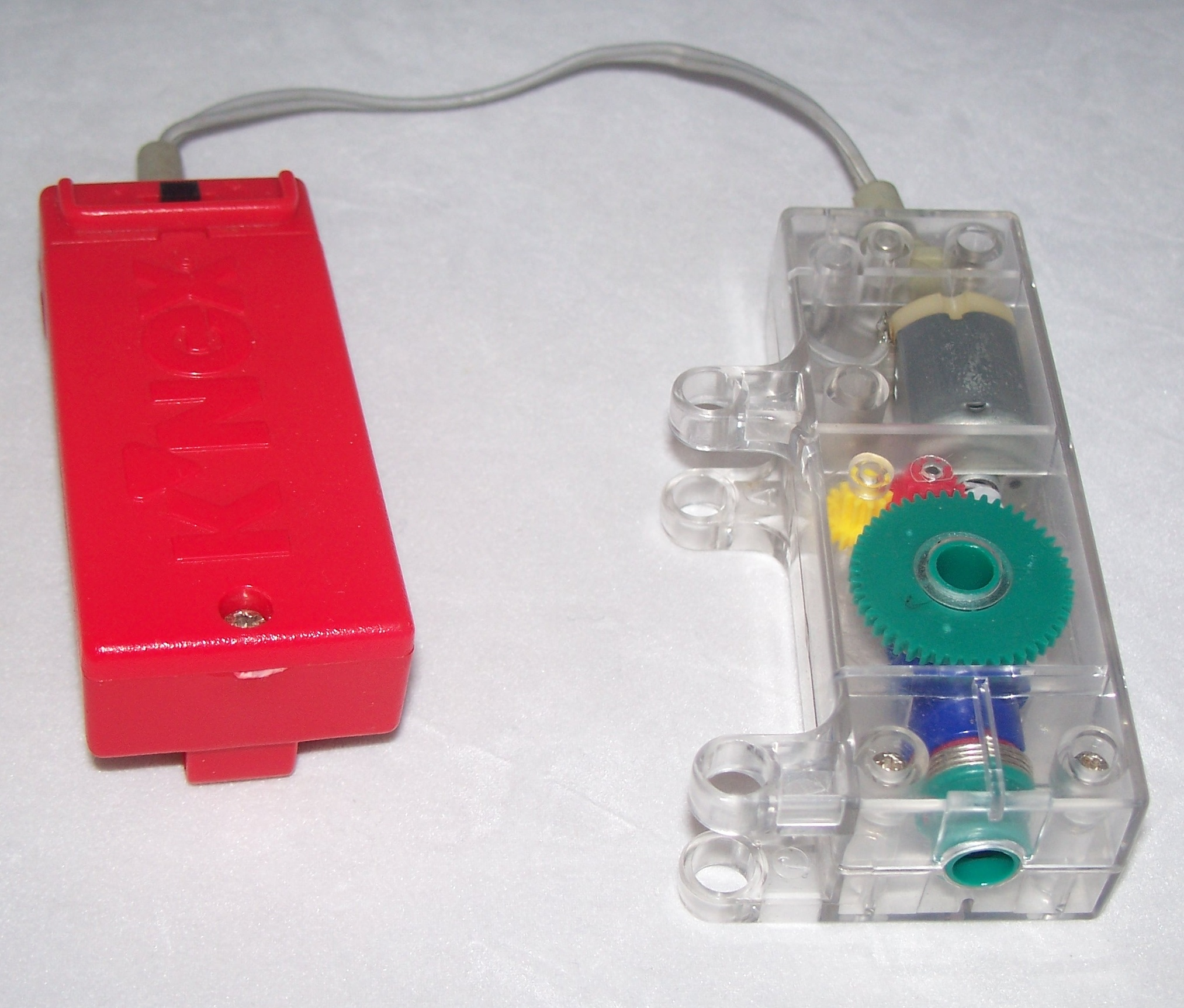 K'NEX Battery Motor Clear/Green and red