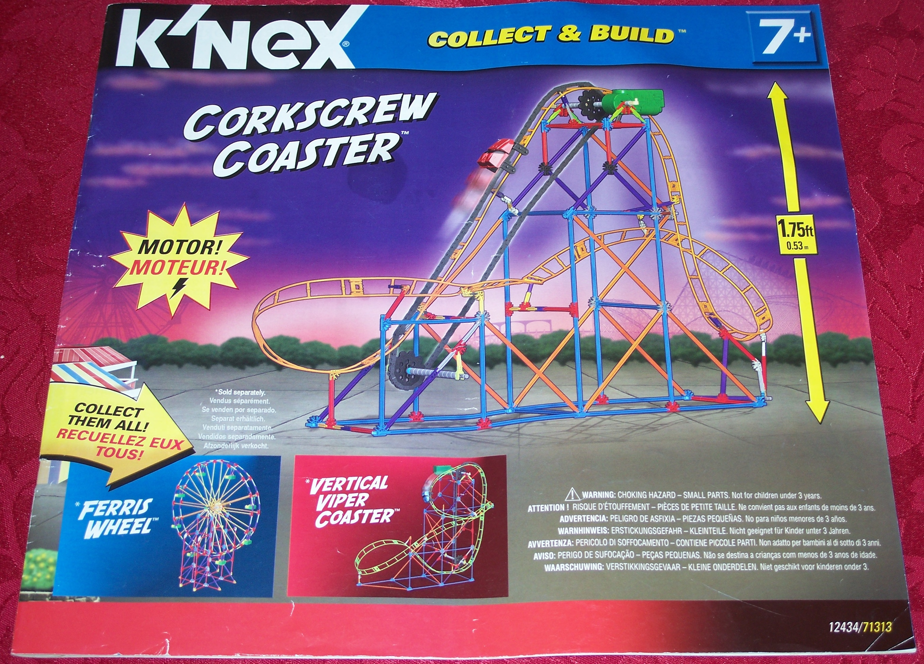Instruction Book Collect & Build Corkscrew Coaster 12434/71313 - Click Image to Close