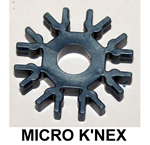 MICRO K'NEX Connector 8-way Met Blue