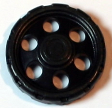 K'NEX Wheel 25mm Black Closed Centre