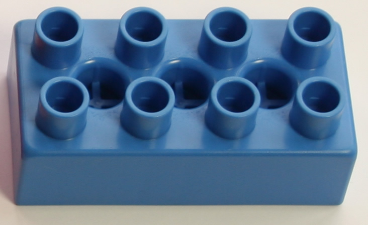 Kid K'NEX Brick 2x4 Blue