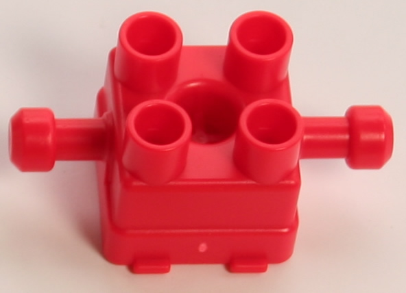 Kid K'NEX Brick 2x2 Rod Axle Red