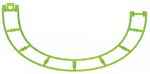 MICRO K'NEX Coaster Track Semi Circle Green
