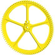 K'NEX Crown gear large Yellow 82 Teeth